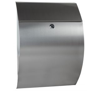 Product Name: Locking Brushed Steel Mailbox-13 x18x5-3/8