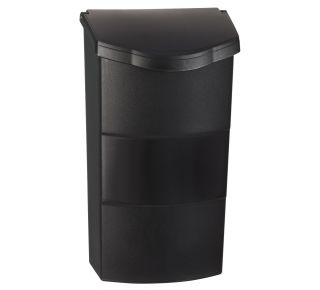 Product Name: Vertical Plastic Mailbox Black 8.25x13.75x4