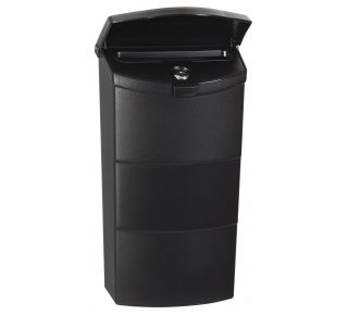 Product Name: Vertical Locking Mailbox Plast.Black 8.25x13.75x4