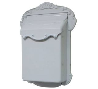 Product Name: Lux. Vertical Cast Alum. Mailbox White 13x18.75x4.75