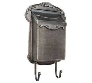 Product Name: Lux. Vertical Cast Alum. Mailbox Swedish Silver 13x18.75x4.75