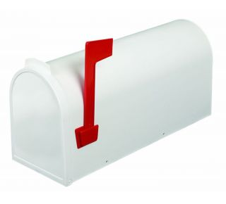 Product Name: Plastic Rural Mailbox White 7x10x19.5