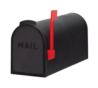 Product Name: Plastic Rural Mailbox Black 7x10x19.5