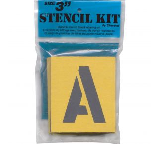 "Product Name: 3"" STENCIL KIT (BLU OR WHT BAG)"