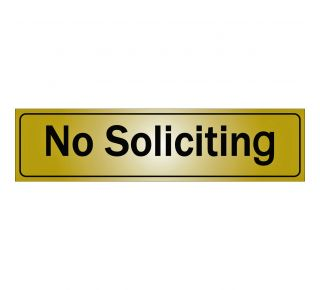 Product Name: NO SOLICITING