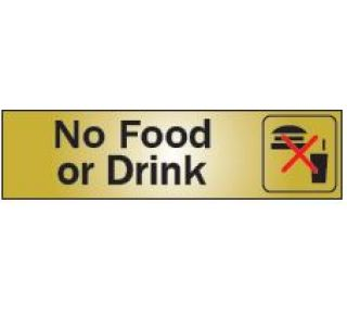 Product Name: NO FOOD/DRINK