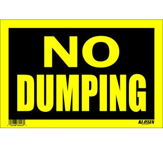 Product Name: NO DUMPING
