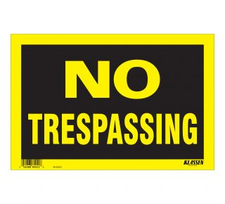 Product Name: NO TRESPASSING