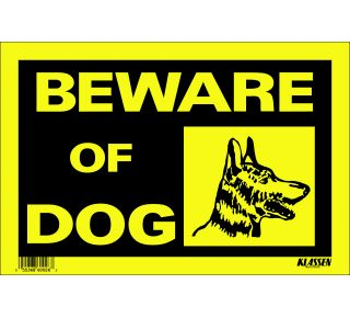 Product Name: BEWARE OF DOG (S&A)
