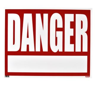 Product Name: DANGER (w/BLANK AREA)