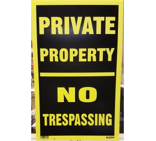 Product Name: PRIVATE PROP / NO TRESPASSING