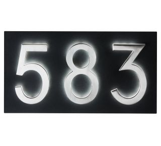 "Product Name: 7"" X 13"" small black plaque for LED"