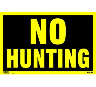 Product Name: NO HUNTING (YELLOW)