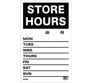 Product Name: STORE HOURS (BLACK)