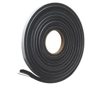 "Product Name: L347C - Poly Foam Tape 1/2"" x 3/8"" x 17' Charcoal"